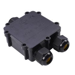 Puszka mufa hermetyczna czarna trójnik 5Pin 0.5-2,5mm2 średnica kabla 8-12mm IP68 V-TAC VT-870