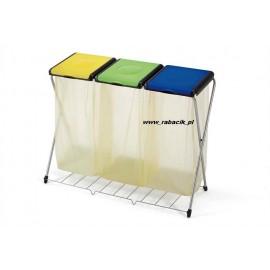 GIMI Nature 3Plus - stojak 3x120l z półką, stelaż na worki, na śmieci. Najwyższa jakość