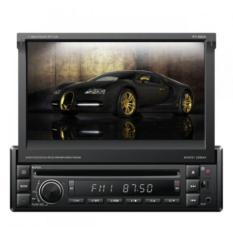 """Radio samochodowe Peiying Alien model PY9905 1Din z 7"""" wyświetlaczem, GPS, DVB-t, Bt"""