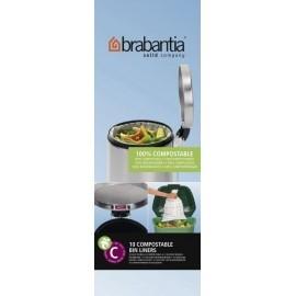 Brabantia, worki biorozkładalne w 100% - rozmiar C 10-12l