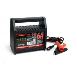 Prostownik do ładowania akumulatorów THR 549 12V 6A z testerem stanu naładowania