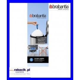 Brabantia, worki plastikowe - białe rozmiar E 20l