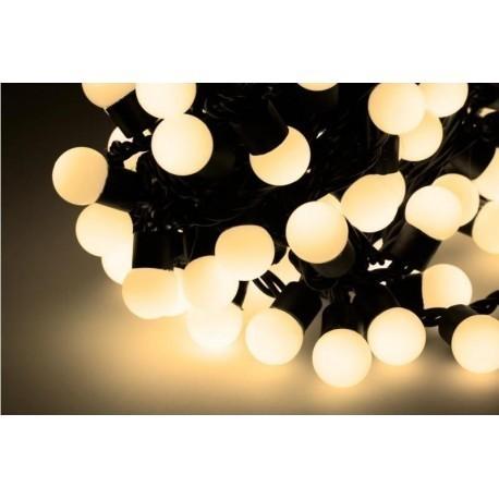 Diodowe, LED, lampki choinkowe ozdobne zewnętrzne, białe ciepłe - 10mb