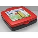 Quadra 120 - czerwony stojak na worki o pojemności od 30 do 120l