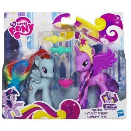 My Little Pony, księżniczka Twilight Sparkle i przyjaciółka Rainbow Dash