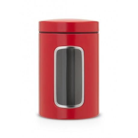 Brabantia, red passion, czerwone pojemniki 1,4l