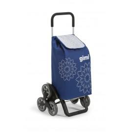 GIMI Tris Floral Blue profesjonalny wózek 6 kołowy