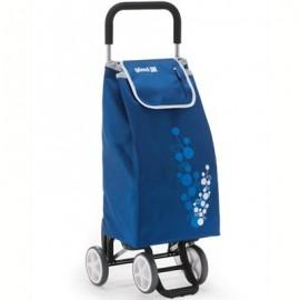 GIMI TWIN niebieski profesjonalny wózek 4 kołowy