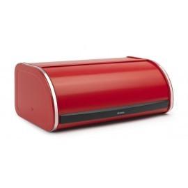 Brabantia 481001 - chlebak wypukły Red Passion - czerwony, pojemnik na pieczywo, RollTop