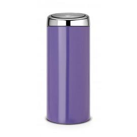 Brabantia 481901 - purpurowy, Pansy Purple, kosz na śmieci Touch Bin 30l
