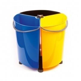 Ecobin - obrotowy kosz do segregacji odpadów 35l (3x11,7l)