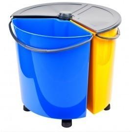 Ecobin PLUS obrotowy kosz do segregacji odpadów z pokrywą 35l (3x11,7l)