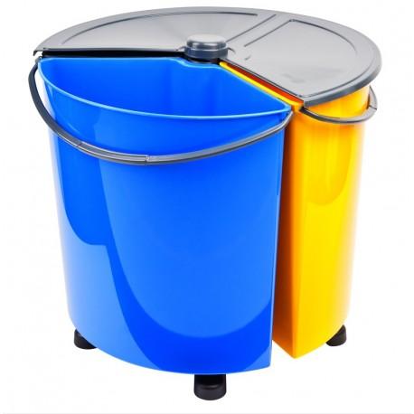 Ecobin PLUS - obrotowy kosz do segregacji odpadów z pokrywą