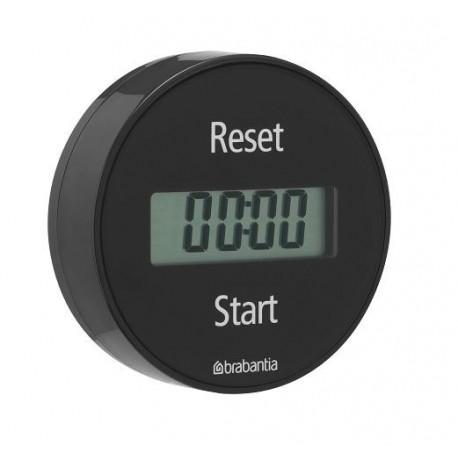 Brabantia 103742 - Timer magnetyczny, minutnik czarny