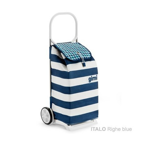GIMI ITALO Righe blue - profesjonalny wózek na zakupy, duża torba 52l