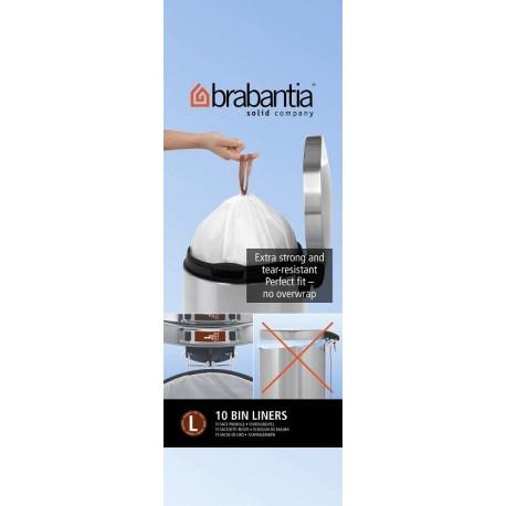 Brabantia, worki plastikowe - białe rozmiar L 40-45l