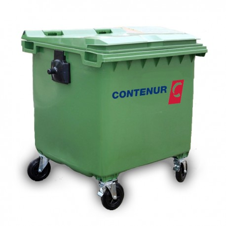 Contenur - pojemnik plastikowy 4-kołowy 1100l na odpady komunalne