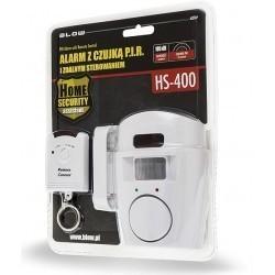 Alarm HS-400 z czujką PIR i zdalnym sterowaniem, BLOW