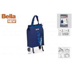 GIMI składana torba zakupowa, wózek składane koła BELLA granatowy