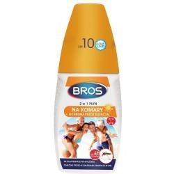 Płyn 2w1 na komary + ochrona przed słońcem BROS