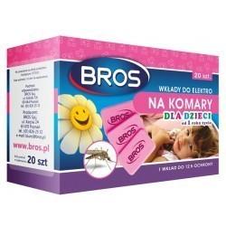 20 wkładów na komary sensitive, rekomendacja dla dzieci BROS