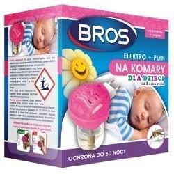 Urządzenie elektro + płyn na komary dla dzieci, BROS