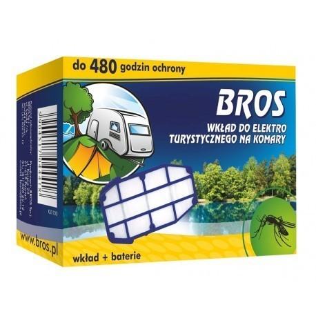 Wkład na komary i baterie do turystycznego urządzenia na komary, BROS