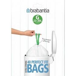 Brabantia 375668 40szt - worki plastikowe - rozmiar G (20-30l), dispenser pack