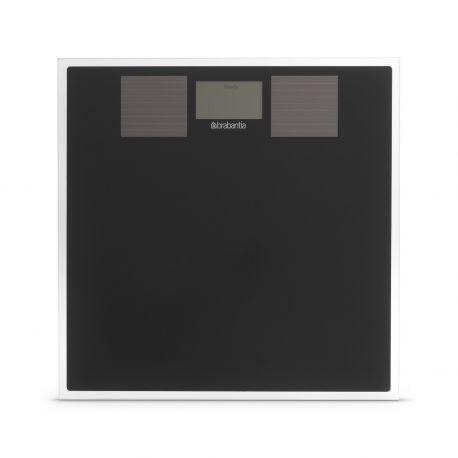Brabantia 483103 waga łazienkowa szklana czarna, zasilanie słoneczne