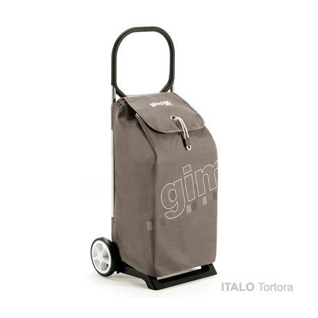GIMI ITALO Tortora - profesjonalny wózek na zakupy z dużą torbą 52l