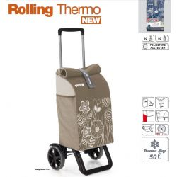 GIMI ROLLING THERMO brązowy wózek na zakupy izotermiczny 50l
