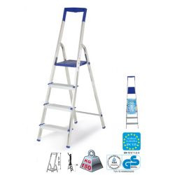 CASABRIKO drabina aluminiowa TOP STEP 4 - 4 stopnie, certyfikat