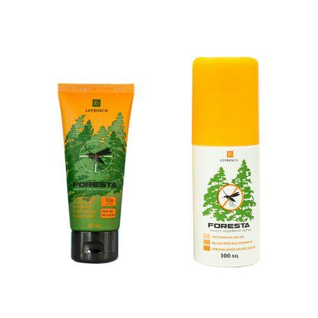 FORESTA zestaw krem + spray odstraszający komary, dwie substancje aktywne