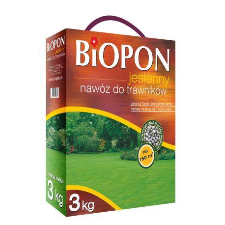 Nawóz jesienny do trawników, 3kg + gratis pałeczki nawozowe do storczyków BIOPON