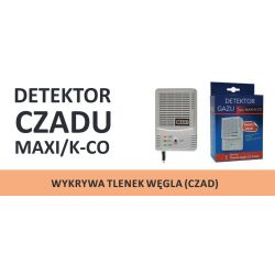 Detektor gazu MAXI /K-CO tlenek węgla, czad zasilanie 230V, produkt 100% polski