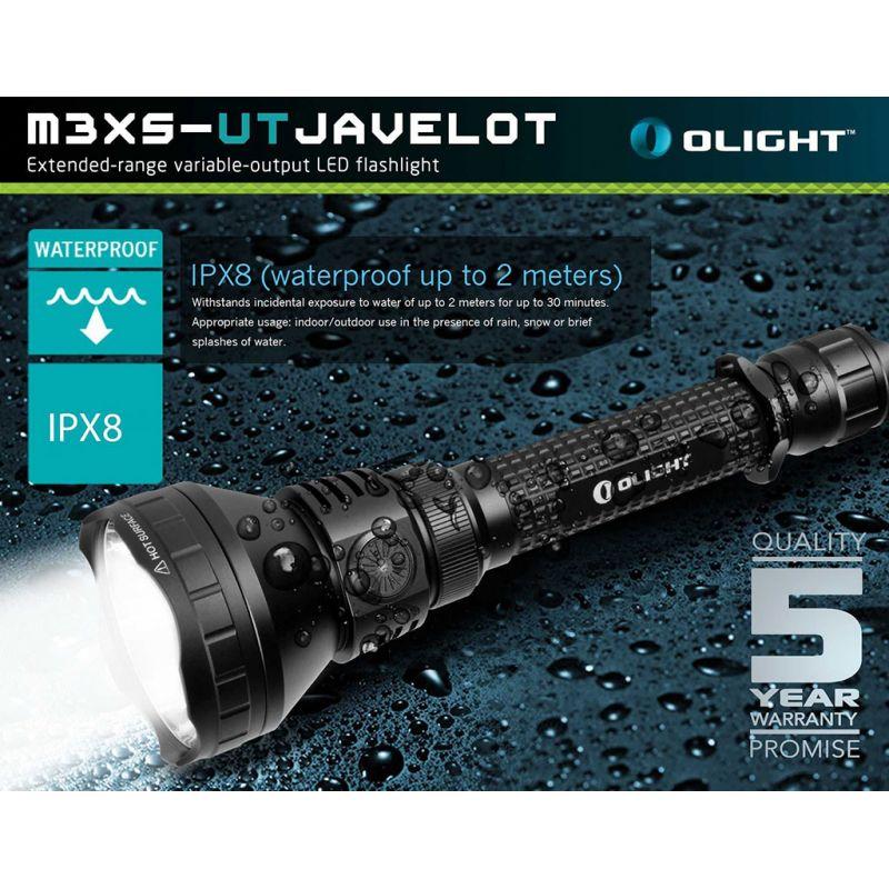 Extended-range Rech Olight® Torch 00 Lumens SR Ultra Thrower Intimidator SR-UT