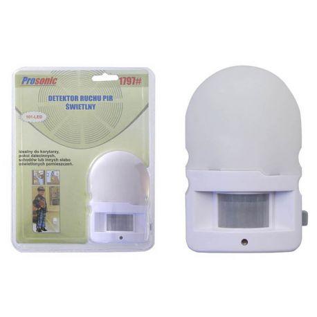 Detektor ruchu PIR, świetlny lampa nocna LED 230V