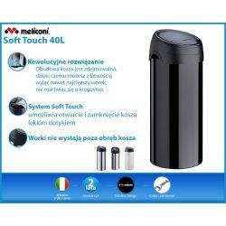 Meliconi kosz na śmieci SOFT Touch - 40l INOX