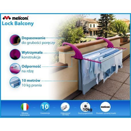 Meliconi - suszarka balkonowa LOCK Balcony