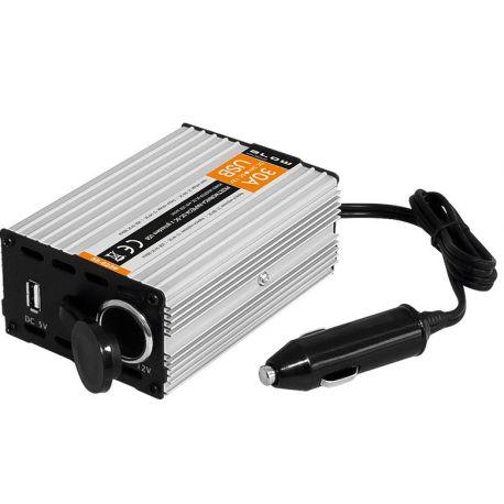 BLOW Przetwornica samochodowa 24V/12V 30A z gniazdem USB