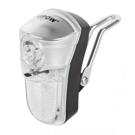 Lampa rowerowa przednia 1xLED z montażem do widelca, URZ0049 VIPOW