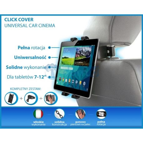 """Samochodowy zagłówkowy uchwyt na tablet 7"""" - 12"""" CAR CINEMA KIT Meliconi"""