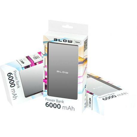 BLOW Power Bank 6000mAh 1xUSB PB05 SREBRNY bateria awaryjna