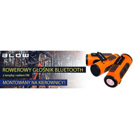 Głośnik przenośny, bluetooth BT300 z radiem FM oraz lamą rowerową, BLOW