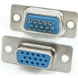 Gniazdo DB15 (VGA) na kabel - kompletne.