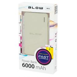 BLOW Power Bank 6000mAh 1xUSB PB12 bateria awaryjna