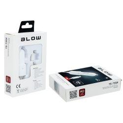 BLOW Ładowarka samochodowa do iPhone seria 5, 6, SE, 5V 2,1A 12-24V