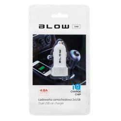 BLOW Ładowarka samochodowa do Apple, Samsung, Sony, LG i inne 2xUSB 2x2,4A, 12-24V