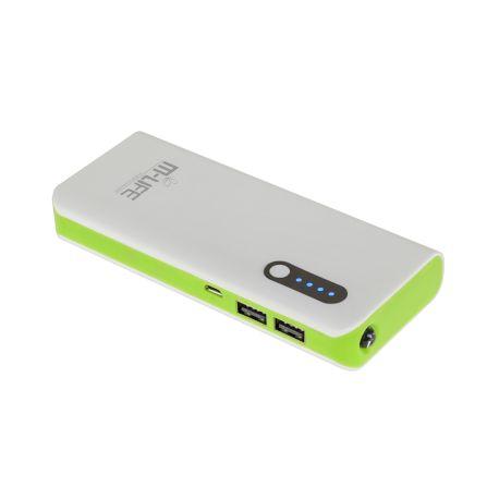M-Life POWER BANK 10000mAh 2xUSB, latarka, kabel USB