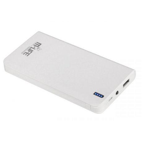 M-Life POWER BANK 10000mAh 1xUSB, latarka, kabel USB